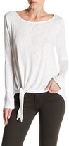 Velvet by Graham & Spencer Gwyneth Long Sleeve Tie-Hem Tee