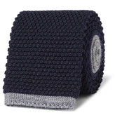 Canali 8cm Two-Tone Knitted Wool Tie