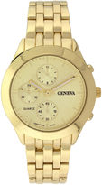 GENEVA Geneva Womens Multifunction-Look Gold-Tone Bracelet Watch