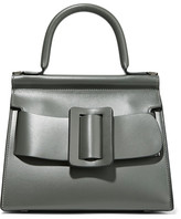 Boyy Karl 24 Small Buckled Leather Tote - Charcoal