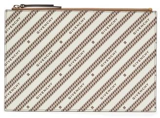 Givenchy Bond Medium Logo-print Canvas Pouch - Beige Multi