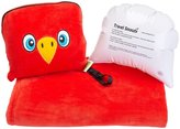 Trendy Kid Travel Buddies Snoozy Blanket and Pillow Set - Popo Parrot
