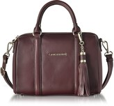 A.N.A Lancaster Paris Mademoiselle Grained Leather Small Duffle Bag