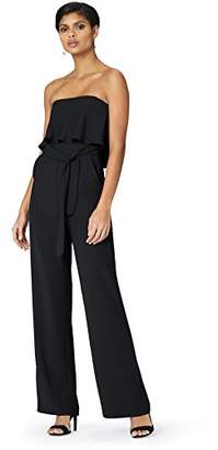 Truth & Fable Women's Strapless Ruffle Top Jumpsuit With Pockets