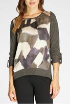 Bobeau Abstract Print Top