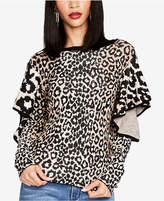 Rachel Roy Ruffled Animal-Print Sweater, Created for Macy's