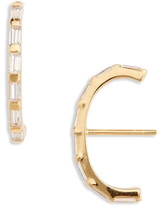 Argentovivo Baguette Suspender Stud Earrings