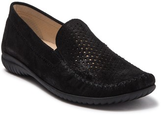 Gabor Perforated Leather Moccasin