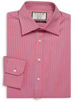 Thomas Pink Gibson Slim-Fit Striped Cotton Dress Shirt