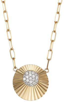 Phillips House Aura 14K Yellow Gold & Diamond Offset Mini Pendant Necklace