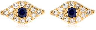 Ef Collection Diamond Evil Eye 14kt Gold Stud Earrings