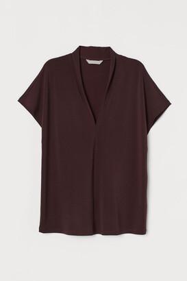 H&M V-neck Top - Red