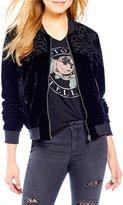 Jessica Simpson Kendra Velvet Bomber Jacket