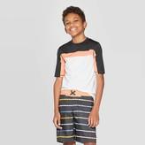 Art Class Boys' Short Sleeve Rash Guard Swim Shirt - art classTM White/