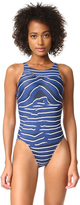adidas by Stella McCartney Zebra Swimswuit