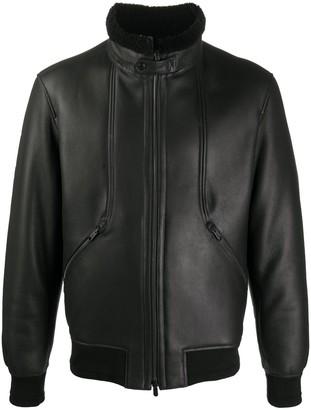 Ermenegildo Zegna High Neck Lambskin Jacket