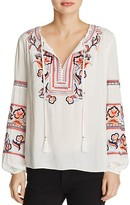 Parker Persimmon Embroidered Top