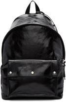 Saint Laurent Black Leather City Military Backpack