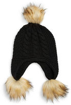 MICHAEL Michael Kors Faux Fur-Trimmed Knit Hat