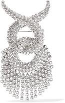 Balenciaga Palladium-tone Swarovski Crystal Brooch - Silver