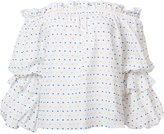Caroline Constas polka dots off-shoulders blouse - women - Cotton - XS