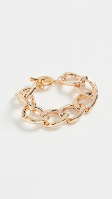 Kenneth Jay Lane Polished Gold Link Toggle Bracelet
