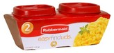 Rubbermaid Easy Find Lids Food Storage Container, 0.5 Cup, 2-pack
