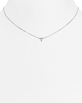 Nadri Sterling Initial Pendant Necklace, 16