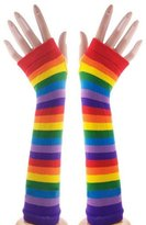 2 Brothers Unlimited Rainbow Suspenders, Knee High Socks, & Arm Warmers Punk Gothic