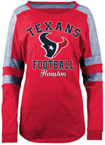 5th & Ocean Women's Houston Texans Space Dye Long Sleeve T-Shirt