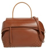 Tod's 'Small Wave' Leather Satchel - Brown