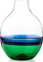 Carlo Moretti Glass Vase, Green/Blue