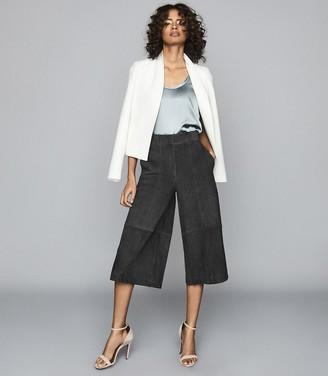 Reiss OTTIE SUEDE CULOTTES Charcoal