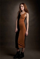 LnA Two Tone Dress in Black and Caramel