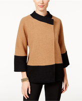 JM Collection Colorblocked Wool Jacket, Only at Macy's