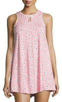 Kate Spade Floral-Print Keyhole Chemise, Pink Pattern