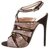 Tom Ford Sequined Crossover Sandals