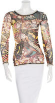 Jean Paul Gaultier Butterfly Print Long Sleeve Top