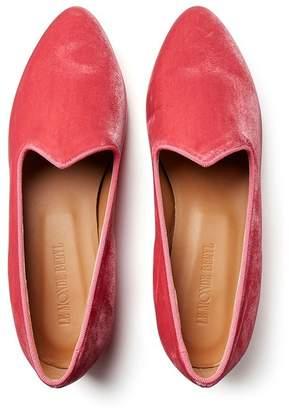 Le Monde Beryl Raspberry Velvet Venetian Slipper