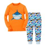 Huata Shark Little Boys' Pajama Set Tee&Pants 100% Cotton Baby Clothes