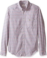 Lacoste Men's Long Sleeve Oxford Multi Color Check