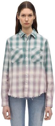 Amiri Degrade Lurex Plaid Flannel Shirt