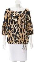Diane von Furstenberg Silk-Blend Oversize Blouse