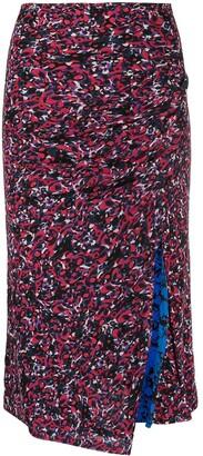 Diane von Furstenberg Dariella reversible mesh fitted skirt