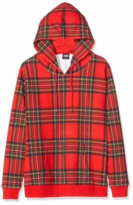 Urban Classics Women's Kapuzen-Sweatshirt Ladies All-Over-Print Tartan Hoody