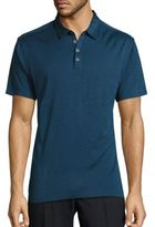 John Varvatos Solid Silk-Blend Polo
