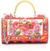 Dolce & Gabbana Maiolica Dauphine Print Calfskin Phone Bag