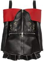 Alexander McQueen Stud Embellished Off The Shoulder Leather Jacket