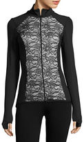 Karen Kane Lace-Accented Active Jacket