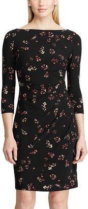 Chaps Women's 3/4 Sleeve Floral Dress